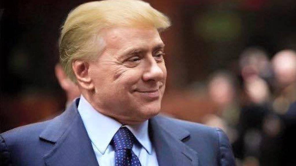 """Ein Mischwesen genannt """"Trumpusconi"""": Dieses Bild kursiert derzeit auf Twitter."""