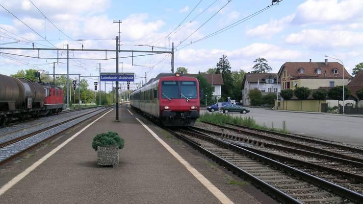 Der Schalter im Bahnhof Luterbach schliesst