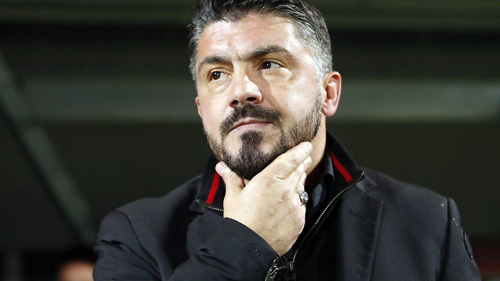 Gennaro Gattuso darf mit seiner bisherigen Ausbeute mit der AC Milan nicht zufrieden sein.