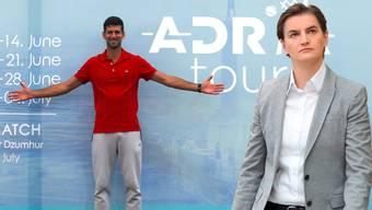 Novak Djokovic steht nach mehreren Coronavirus-Fällen bei seiner Adria Tour in der Kritik. Premierministerin Brnabic nimmt die Verantwortung auf sich.