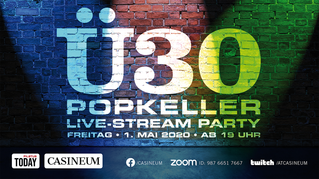 Ü30 Popkeller LIVE-STREAM HIT-PARTY