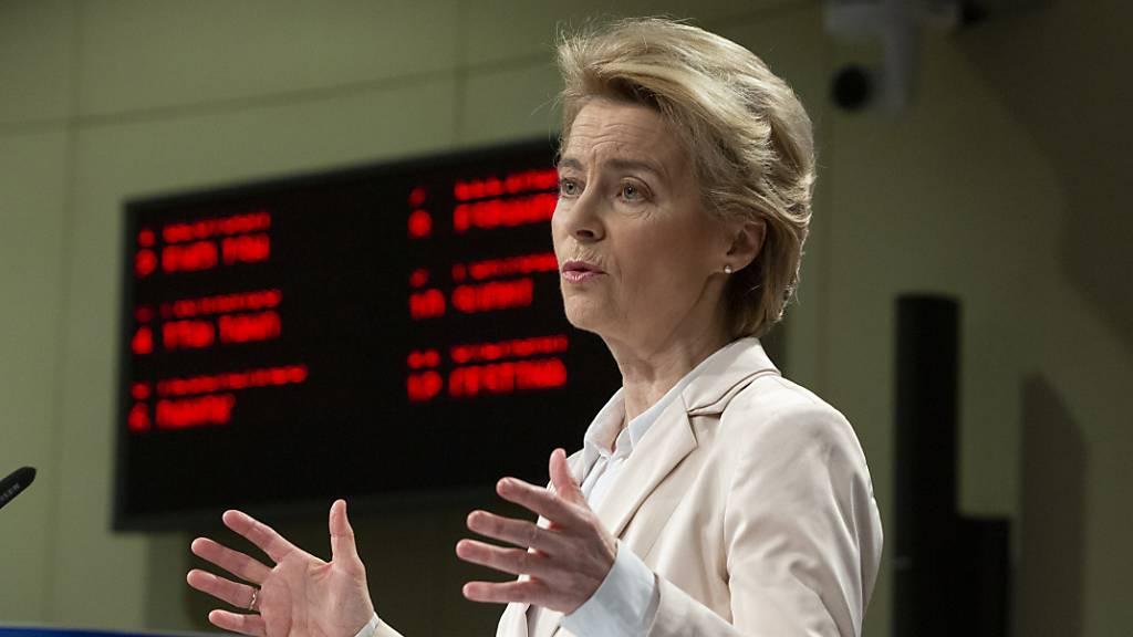 «Das Recht, um Asyl zu bitten, ist ein fundamentales Recht. Und es muss geachtet werden», sagte EU-Kommissionspräsidentin Ursula von der Leyen am Montag in Brüssel.