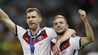 Kramer (rechts) nach dem WM-Final