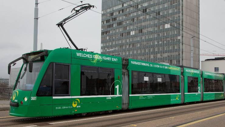 Die Basler dürfen über das Grün der BVB-Trams entscheiden