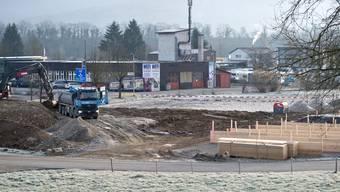 Im Gebiet Seeächer wird Aushubmaterial gelagert.