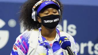 US-Open-Siegerin Naomi Osaka machte ihren Protest gegen Rassismus deutlich, in dem sie vor und nach ihren Spielen Gesichtsmasken mit den Namen von sieben Opfern rassitischer Gewalt trug