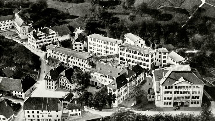 Assa-Werk 1925, rechts die heutige Lehrwerkstätte.