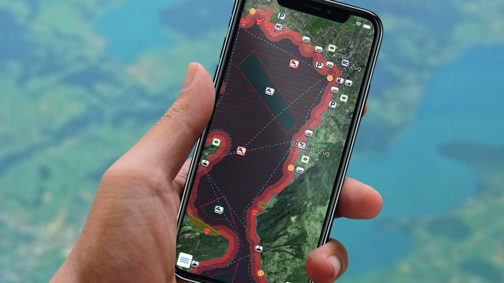Interaktive Karte des Zuger- und Ägerisees neu als App verfügbar