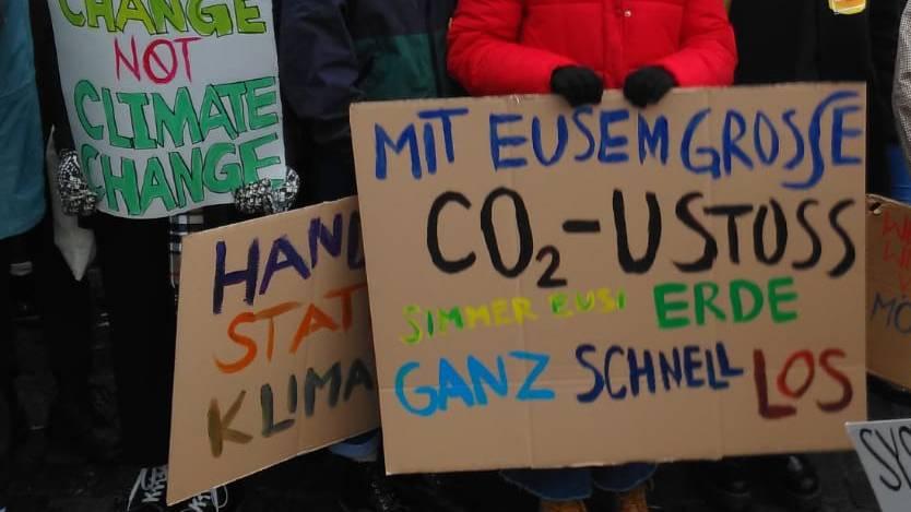 Es ist das erste Mal, dass sich die Luzerner Schülerschaft am Klimastreik beteiligt.