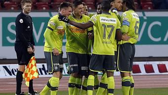 Izet Hajrovic (links) schoss die Hoppers in den Cupfinal