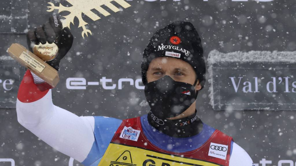 In Val d'Isère hat Mauro Caviezel im Dezember den ersten Weltcupsieg gefeiert.