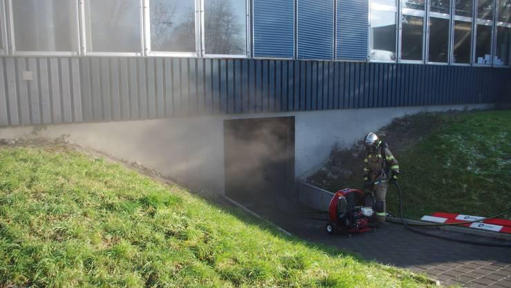 Beim Kantonsspital Baden brannte es in der Wäscherei