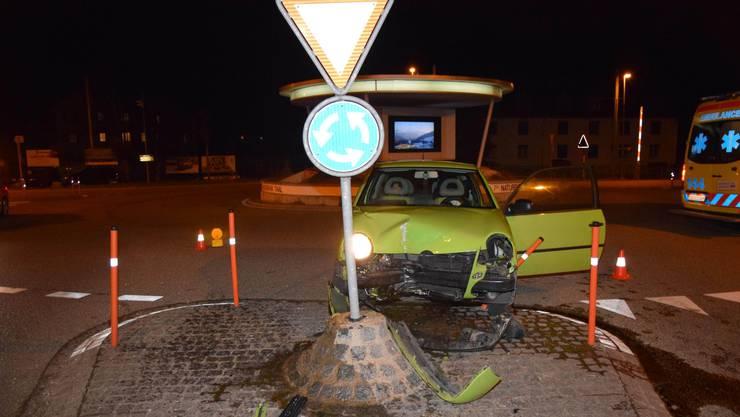 Das Auto de Lenkerin wurde total beschädigt.