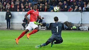 Breel Embolo traf am Dienstag in der 33. Minute zum 3:0 gegen Panama.