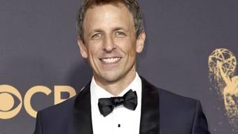 US-Komiker und Talkshow-Moderator Seth Meyers moderiert Anfang Januar 2018 zum ersten Mal die Golden Globes. (Archivbild)