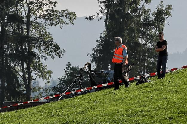 Beim verunfallten Helikopter soll es sich laut der Ausserrhoder Kantonspolizei um einen Privat-Helikopter handeln.