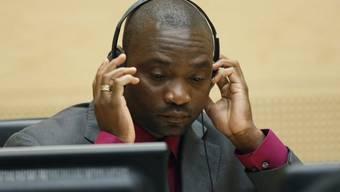Der ehemalige Kriegsherr Germain Katanga vor Gericht (Archiv)