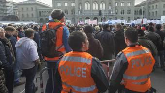Kundgebungen auf dem Bundesplatz während der Session sind wieder erlaubt (Archivbild).