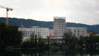 Die Bautätigkeit hat einen Einfluss auf den Leerwohnungsbestand. In Rheinfelden (im Bild der Salmenpark) entstand in den letzten Jahren viel neuer Wohnraum.Archiv/nbo