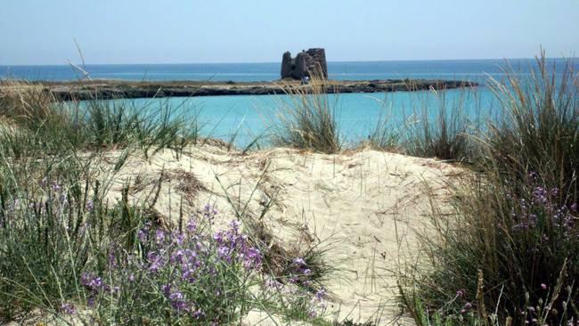 Ein Eindruck von der traumhaften Küstenstrecke südlich von Taranto.