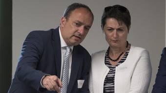 Finanzdirektor Markus Dieth kümmert sich neu um den Neubau des Kantonsspitals Aarau. (Archiv)