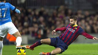 Pique (rechts) schoss Barcelona in der 40. Minute mit 1:0 in Front