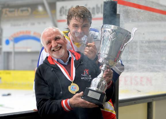 Ein grosser Moment für ihn: Freude im Frühling 2018 über den Meistertitel der Zentralschweizer 1.-Liga-Gruppe