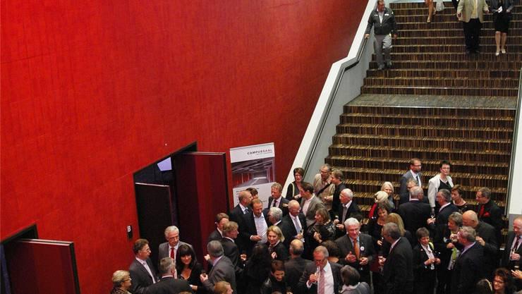 Bei der Eröffnung im Oktober 2013 war die Freude über den Saal gross. az Archiv/MHU