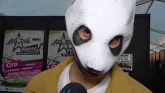 Cro im Interview: «Tele M1» traf den Rapper vor dem Konzert am Argovia Fäscht.