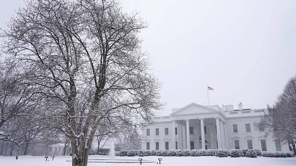 Blick auf das Weiße Haus in Washington. Foto: Patrick Semansky/AP/dpa