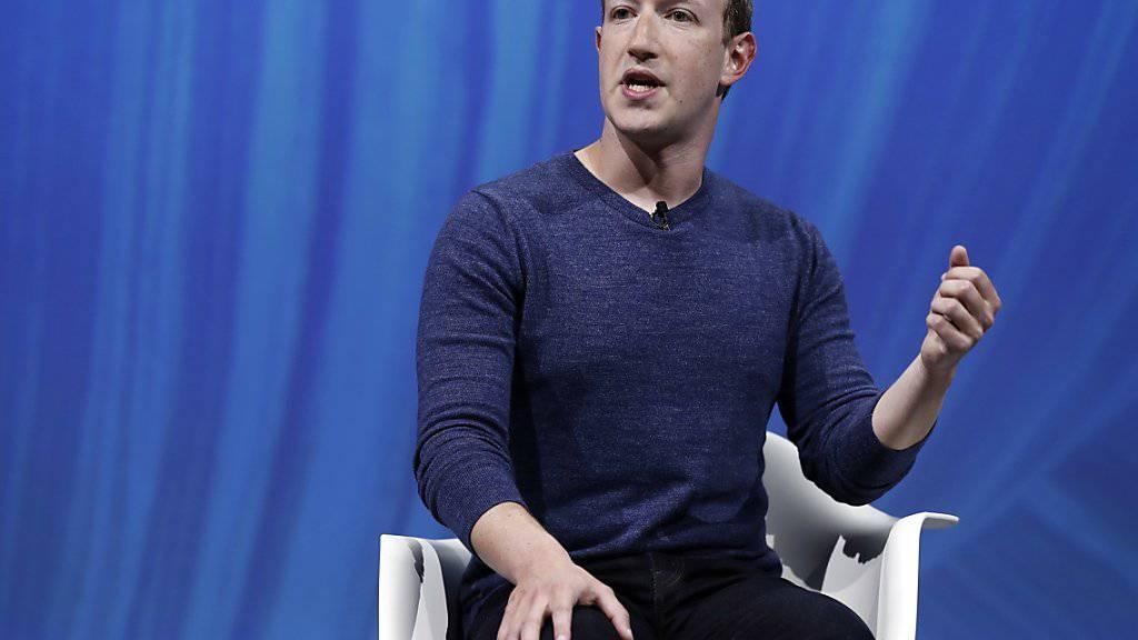 Facebook-Chef Mark Zuckerberg wusste laut eigenen Angaben nichts von einer Kampagne gegen Kritiker. (Archiv)