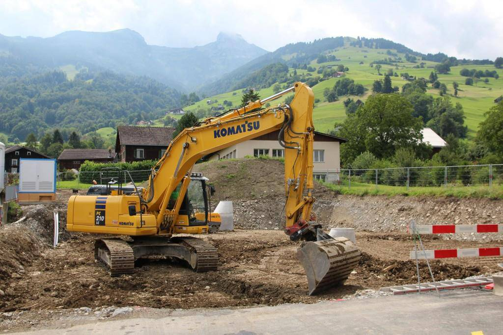 65'000 Kubikmeter Erdmaterial müssen ausgehoben werden. (© Kanton SG)