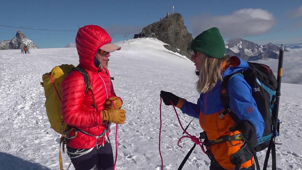 Jetzt gilt es ernst: Sara Wicki nimmt das Breithorn in Angriff