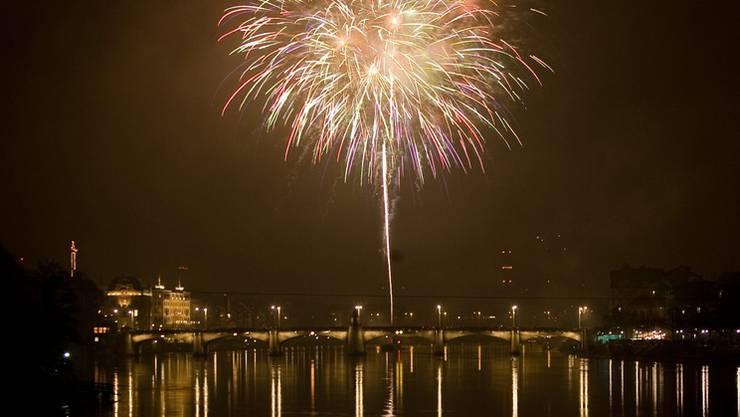 Silvester-Feuerwerk in Basel