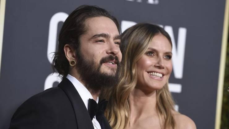 Tom Kaulitz (l) und Heidi Klum zeigen sich im Januar 2019 zusammen bei den 76. Golden Globe Awards. (Archiv)