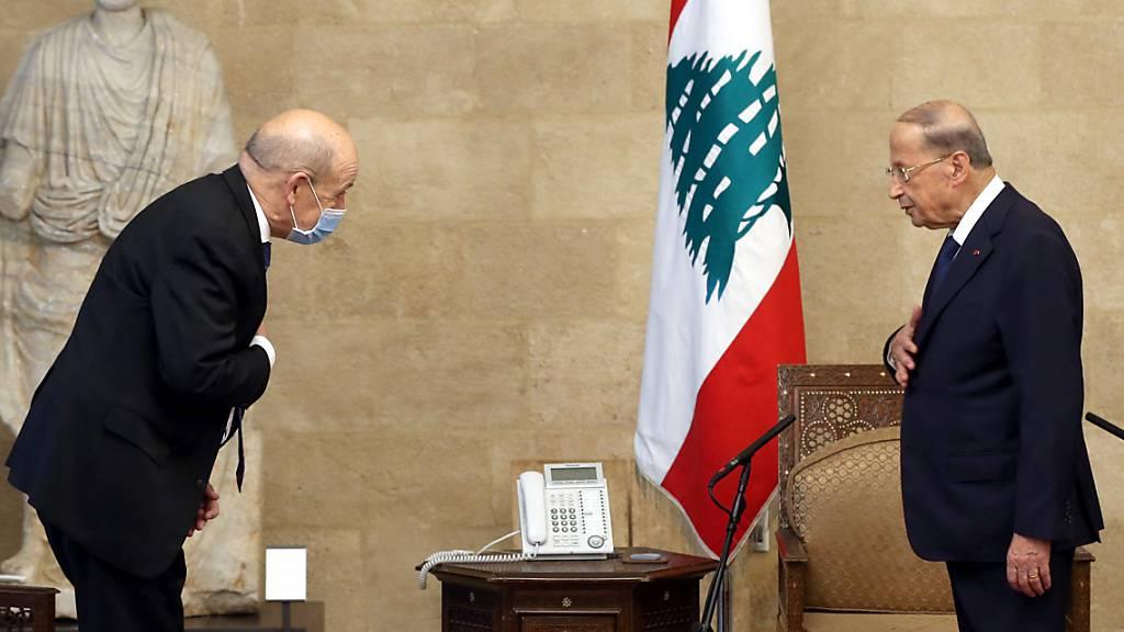 Krise im Libanon: Frankreichs Aussenminister sucht nach Lösungen