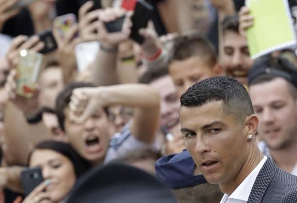 Ronaldo bei seiner Ankunft in Turin.