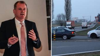Der Aargauische Verkehrsminister Stephan Attiger will die Bünztalstrasse alias Todesstrasse mit der Eliminierung von Knoten entlasten.