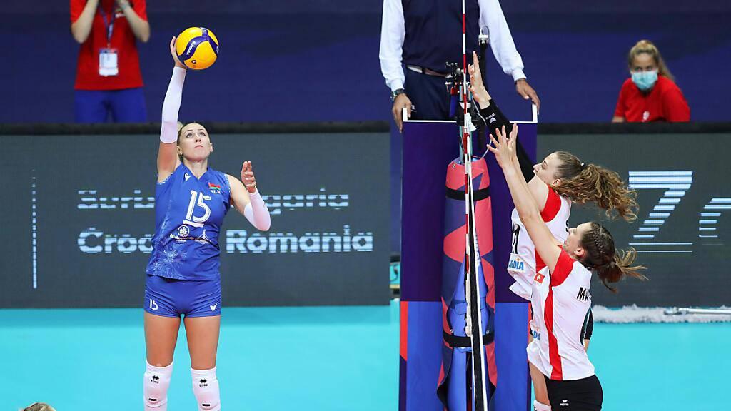 Die Schweizer Volleyballerinnen stehen gegen Belarus zu oft auf verlorenem Posten.