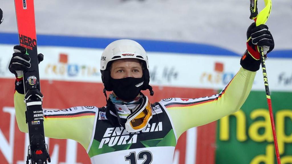 Für Linus Strasser ist es der erste Weltcup-Sieg im Slalom.
