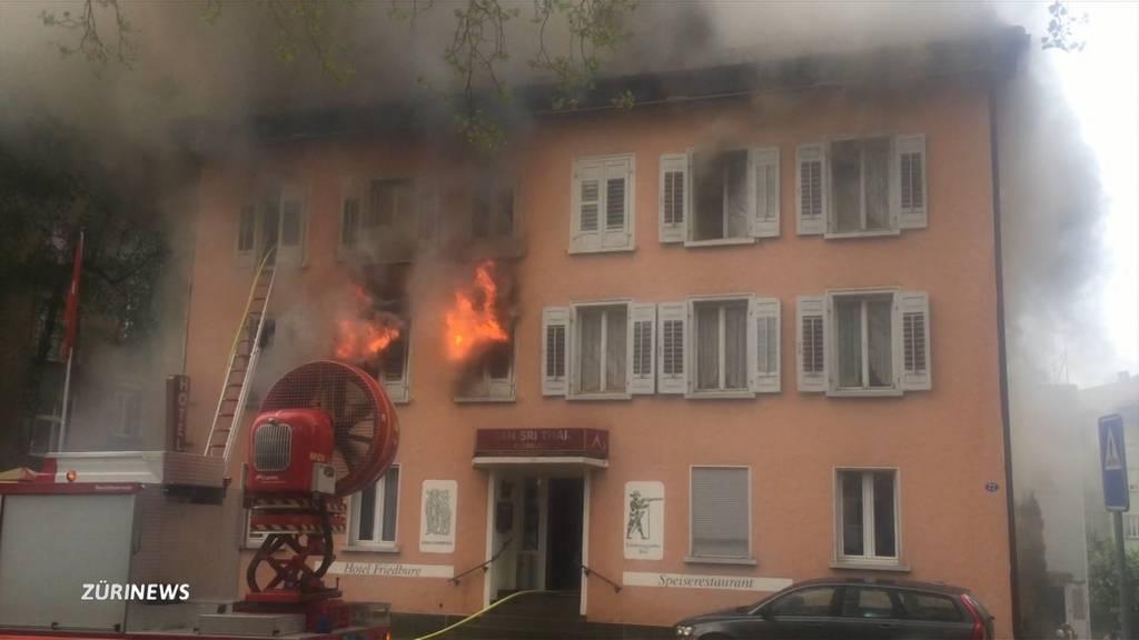 Brand in St. Gallen fordert vier Verletzte