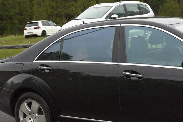 In diesem Auto sitzt David Rockefeller