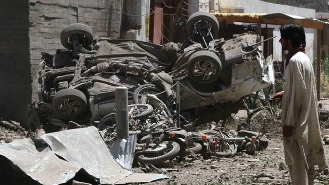 Überreste eines Selbstmordanschlag in Afghanistan (Archiv)