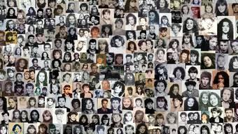 Klare Symbole: Die Passfotos aus dem legendären Automaten in der Unterführung der Oltner City-Kreuzung sind heute dank Reto Staub auf Facebook als Collage zu sehen. Fotos: ZVG/KAS