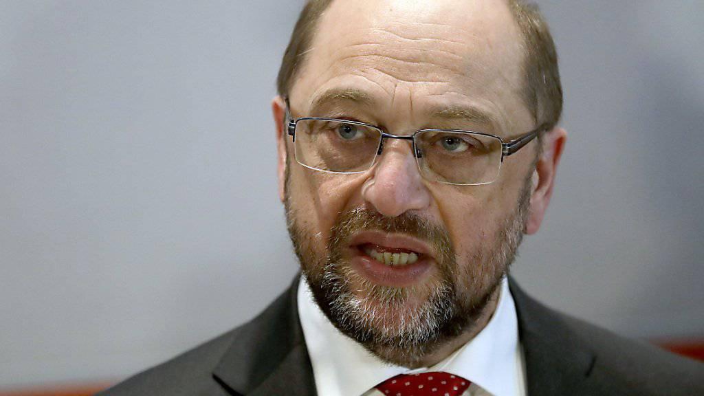 Er fordert bei den nächsten deutschen Wahlen Kanzlerin Angela Merkel heraus: Der frischgebackene SPD-Parteichef Martin Schulz. (Archivbild)