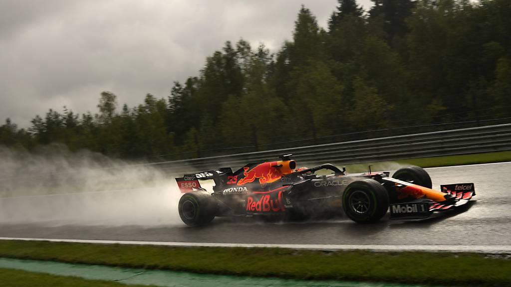 Max Verstappen war im Qualifying bei schwierigsten Bedingungen in Francorchamps der Schnellste