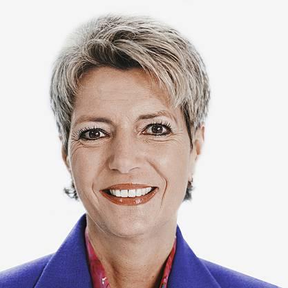 Karin Keller-Sutter: zurückgebunden.