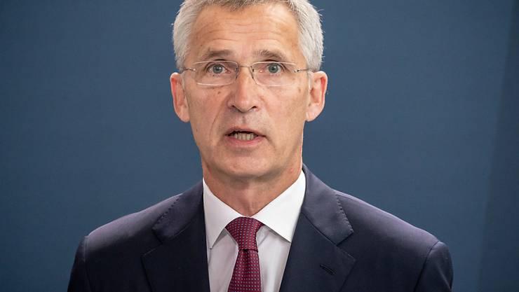 ARCHIV - Jens Stoltenberg, Nato-Generalsekretär, spricht bei einer Pressekonferenz. Foto: Michael Kappeler/dpa-pool/dpa
