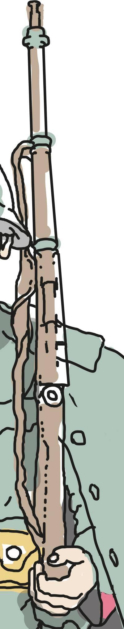 Repetiergewehr von Kaliber 7,5 mm. Das Magazin fasst sechs Schuss und konnte mit einem Patronenclip (einem sogenannten Lader) à 6 Schuss oder mit Einzelpatronen geladen werden. Muition war die GP11. Der Karabiner 31 wurde ab 1993 bis 1958 als persönliche Waffe an die Soldaten abgegeben. Die Eidgenössische Waffenfabrik Bern produzierte über eine halbe Million Stück. Weil es sehr präzis gefertigt wurde, schiesst es ziemlich genau und ist deshalb is heute in Schützenkreisen immer noch beliebt und in Gebrauch.
