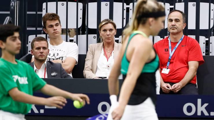2017 sitzen Mutter Dana, Bruder Brian und Vater Ivan in Biel im Publikum.